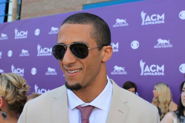 San Francisco 49ers quarterback Colin Kaepernick arrives at the 2013 Academy of Country Music Awards at MGM Grand Garden Arena on Sunday, April 7, 2013.
