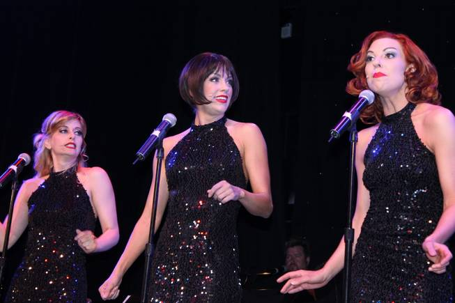 Members of BBR, shown during their premiere performance at Broadway Theater, from left: Anne Martinez, Savannah Smith and Tara Palsha.