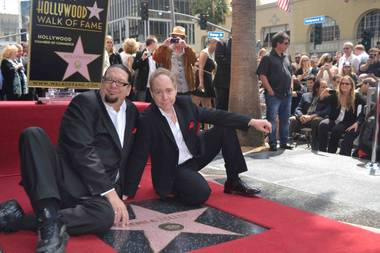 The Rio headliners Penn & Teller receive a star on the Hollywood Walk of Fame on Friday, April 5, 2013.