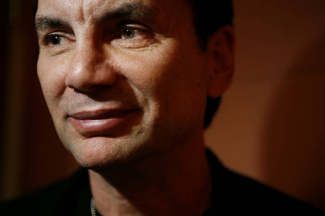 Former mobster Michael Franzese poses for a portrait before he speaks to athletes at George Mason University in Fairfax, Va., on Tuesday, Oct. 30, 2007.