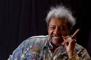 Boxing promoter Don King poses for a photo after an exclusive interview in his Treasure Island penthouse Thursday, April 11, 2013.