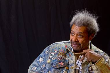 Boxing promoter Don King responds to a question during an exclusive interview in his Treasure Island penthouse Thursday, April 11, 2013.