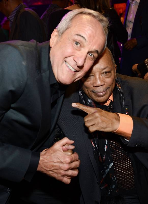 "Larry Ruvo and Quincy Jones at the 2013 Keep Memory Alive ""Power of Love"" Gala celebrating the joint 80th birthdays of Sir Michael Caine and Quincy Jones at MGM Grand Garden Arena on Saturday, April 13, 2013."