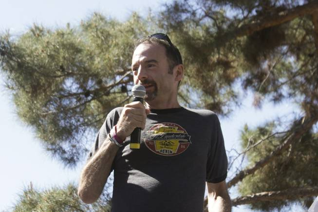 Timothy Ray Brown speaks at the 2013 Aids Walk held at UNLV, Sunday, April 13, 2013. Brown is reportedly the first person to be cured of HIV.