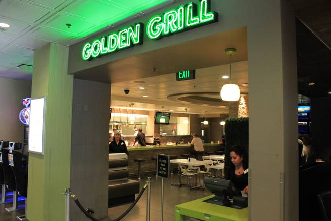 The entrance of Golden Grill on the final day of operations at Gold Spike.