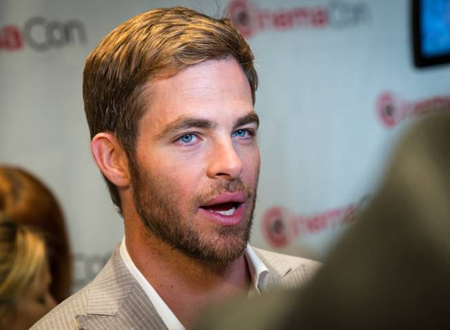 Chris Pine attends Day 1 of 2013 CinemaCon at Caesars ...