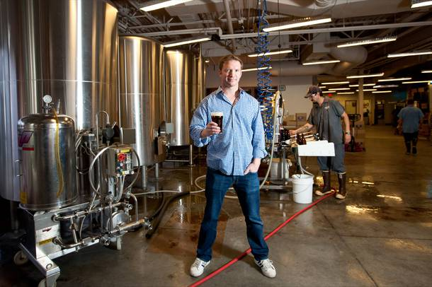 Brian Chapin, founder of Motley Brews Beer Festival, is shown in the Tenaya Creek Brewery in Las Vegas Tuesday, April 16, 2013.