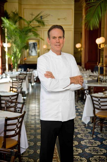 Chef Thomas Keller stands in his restaurant Bouchon at The ...