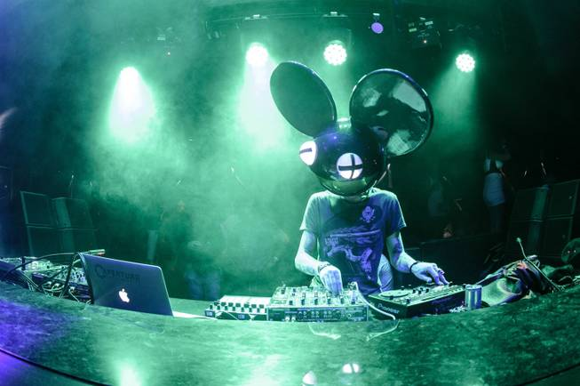 Deadmau5 at Hakkasan Las Vegas' opening night Thursday, April 18, ...