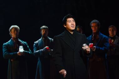 "Devin Ilaw (""Marius"") performs ""Empty Chairs at Empty Tables"" in ""Les Miserables."""