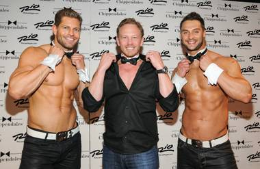 Jaymes Vaughan, Ian Ziering and James Davis at The Rio.