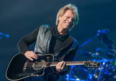 "Bon Jovi's ""Because We Can"" tour stop at MGM Grand Garden Arena on Saturday, April 20, 2013."