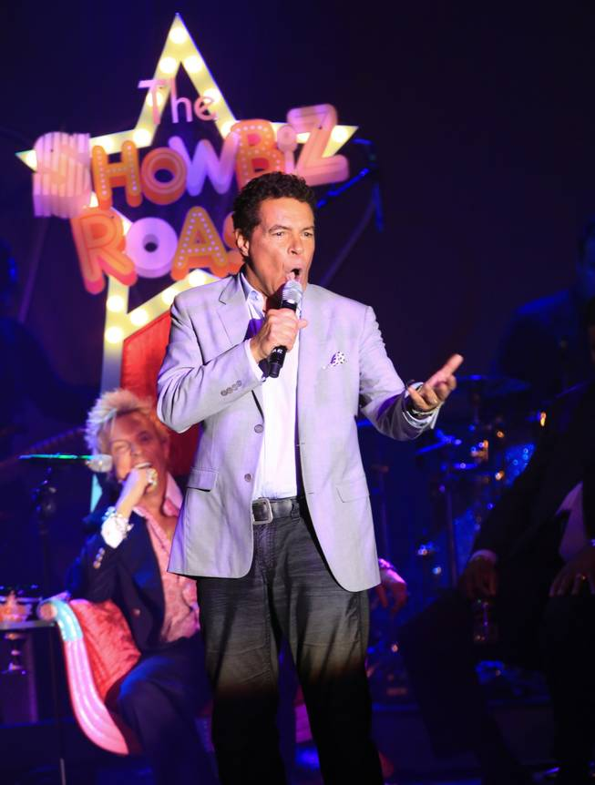 "Clint Holmes sings ""Does Anybody Really Know Who Zowie Bowie Is?"" at ""The Showbiz Roast"" at the Stratosphere."