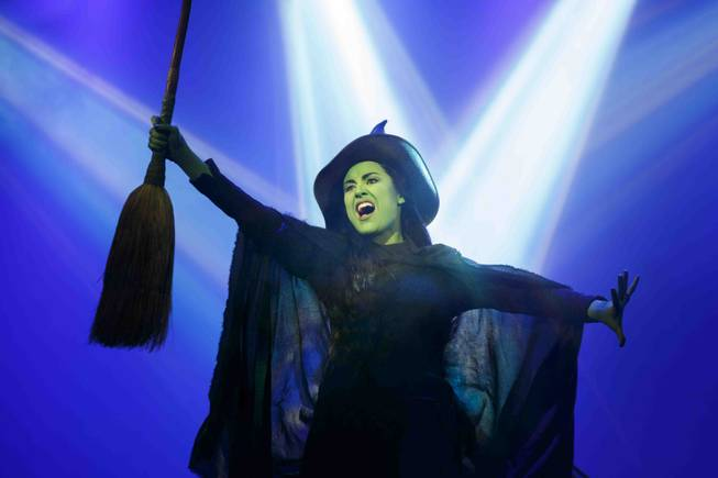 """Wicked"" is part of Broadway Season 3 at The Smith Center for the Performing Arts in downtown Las Vegas. Alison Luff is pictured here as Elphaba."