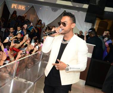 Miguel hosts and performs at Pure in Caesars Palace on Friday, April 26, 2013.