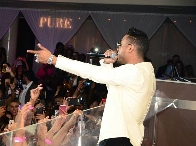 Miguel hosts and performs at Pure in Caesars Palace on ...