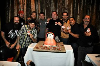 "Corey ""Big Hoss"" Harrison celebrates his 30th birthday at The D Hotel in Downtown Las Vegas on Saturday, April 27, 2013."