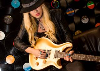 Orianthi at Vinyl in The Hard Rock Hotel Las Vegas on Thursday, April 25, 2013.