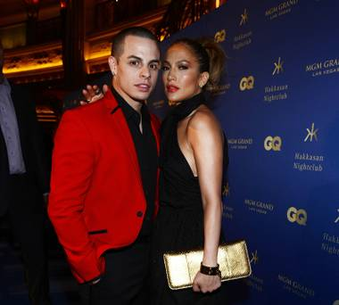 Casper Smart and Jennifer Lopez arrive at the grand opening of Hakkasan Las Vegas at MGM Grand on Saturday, April 27, 2013.