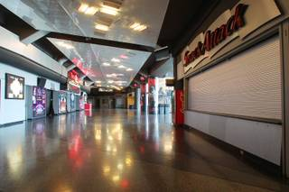 A view of the concourse at the Thomas & Mack Center Tuesday, April 30, 2013.