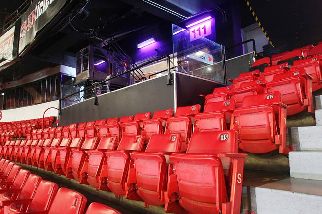 This is a handicapped seating area at the Thomas & Mack Center Tuesday, April 30, 2013.