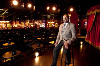 Manager Tony Camacho is shown inside Brad Garrett's Comedy Club at the MGM Grand in Las Vegas Tuesday, April 30, 2013.