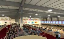 Interior view rendering of the new South Point Bowling Arena.