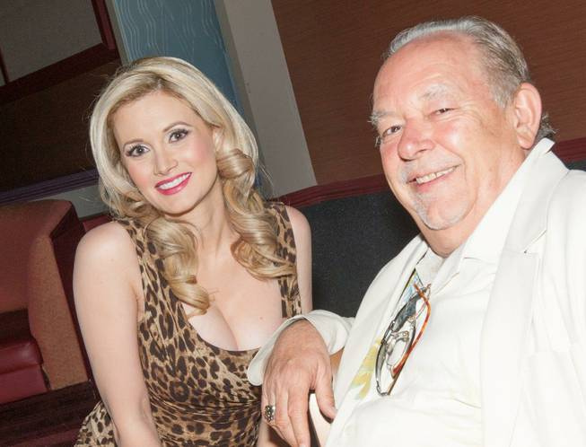 "Holly Madison and Robin Leach at ""Pin Up"" in the Stratosphere on Monday, April 29, 2013."