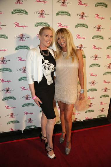 Shellee Renee and Angela Stabile at the 'X Burlesque' 11th anniversary performance at Flamingo Las Vegas.