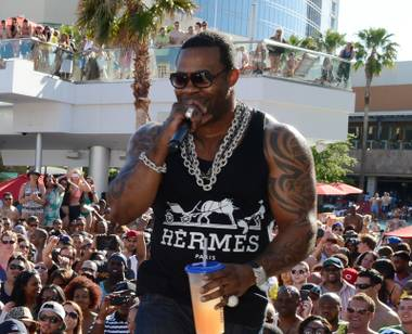 Busta Rhymes at Ditch Weekend at the Palms on Friday, May 3, 2013.
