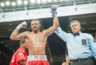 "Anthony Dirrell defeats Don Mouton during ""Fight Nights"" at Chelsea Ballroom in The Cosmopolitan of Las Vegas on Friday, May 3, 2013."