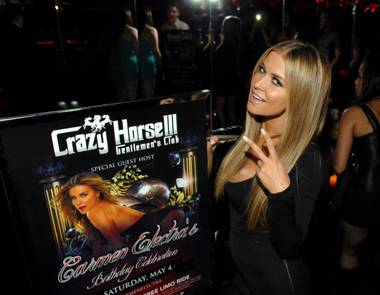 Carmen Electra celebrates her 41st birthday at Crazy Horse III in Las Vegas on Saturday, May 4, 2013.
