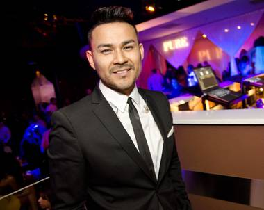 Frankie J celebrates Cinco de Mayo at Pure in Caesars Palace on Friday, May 3, 2013.