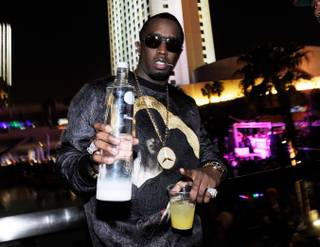 Diddy hosts the fight-night after-party at the Palms on Saturday, May 4, 2013.