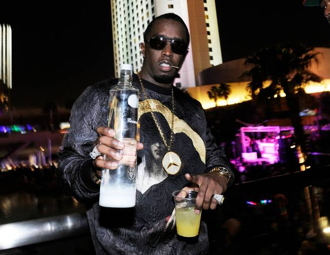 Diddy hosts the fight-night after-party at the Palms on Saturday, ...