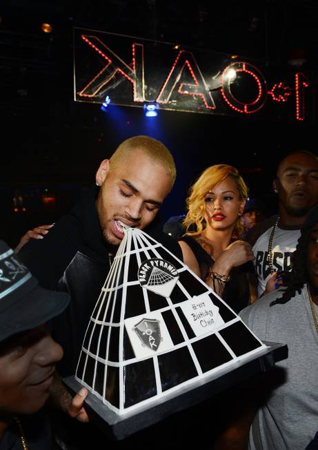 Chris Brown celebrates his 24th birthday with ex-girlfriend Karrueche Tran ...