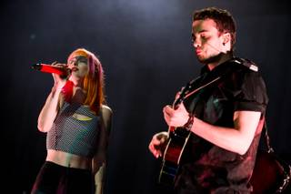 Paramore performs at The Joint in The Hard Rock Hotel Las Vegas on Friday, May 3, 2013.
