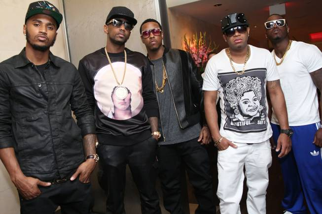 Trey Songz, Fabolous, Red Cafe and Jeremih at N9NE Steakhouse ...