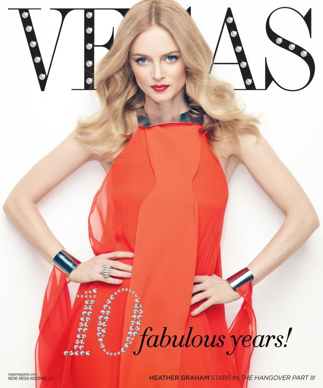 Heather Graham graces the 10th anniversary cover of Vegas Magazine.