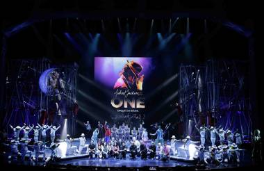 "Cirque du Soleil's ""Michael Jackson One"" at Mandalay Bay on Tuesday, May 7, 2013."