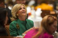 Elaine Wynn waits to be introduced during a Las Vegas Metro Chamber of Commerce Business Power Luncheon at the Rio Wednesday, May 8, 2013.