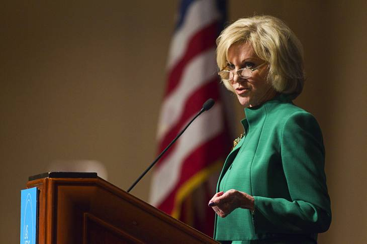 Elaine Wynn speaks during a Las Vegas Metro Chamber of Commerce Business Power Luncheon on Wednesday, May 8, 2013, at the Rio.