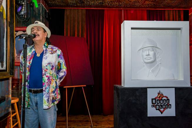 Carlos Santana is honored with a