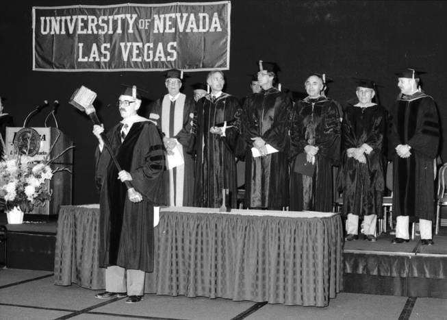 The 25th commencement ceremony in 1983 was held at the Riviera Casino & Hotel. (UNLV Photo Services)