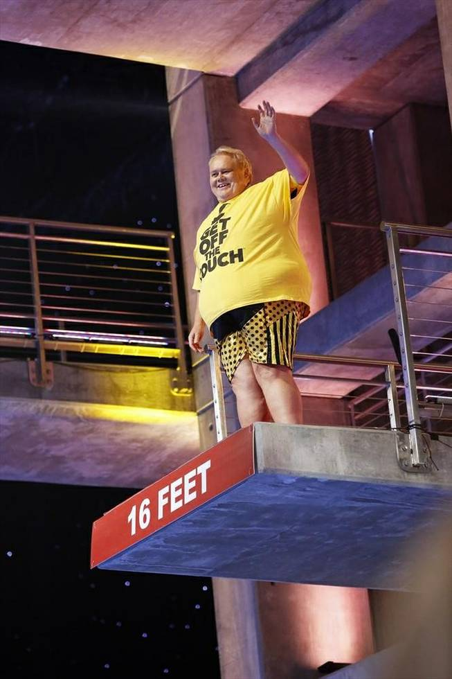 "Louie Anderson appears on the season finale of ""Splash"" on ABC."