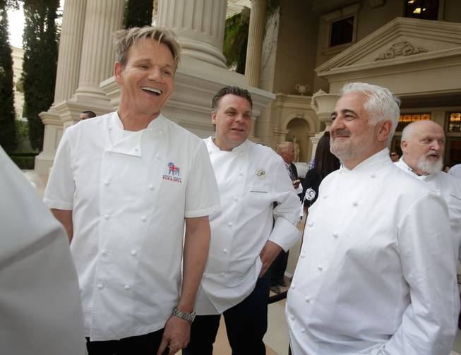 Gordon Ramsay, Francois Payard, Guy Savoy and Michel Richard attend ...