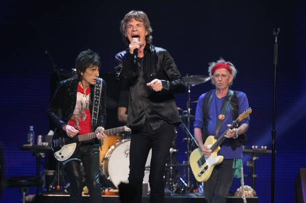 The Rolling Stones perform during their show at MGM Grand Garden Arena on Saturday, May 11, 2013.