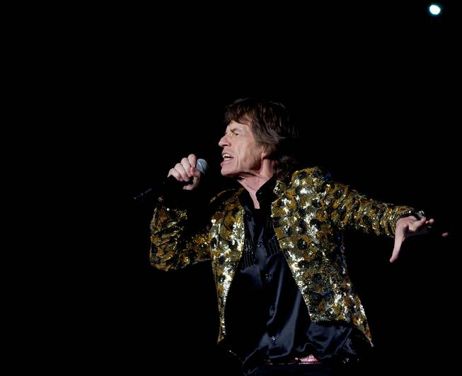 Mick Jagger of The Rolling Stones performs at MGM Grand ...