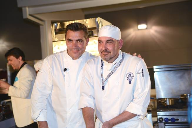 Chef Todd English and Le Cordon Bleu student Todd Huelsman ...