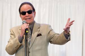 Rich Little impersonates Jack Nicholson during a fundraiser to benefit trombonist Mike Turnbull, who is recovering from stage-four thyroid cancer, at New Song Anthem Church Saturday, May 11, 2013.